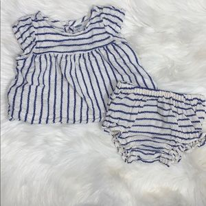 Baby Girl 3-6M Striped Outfit